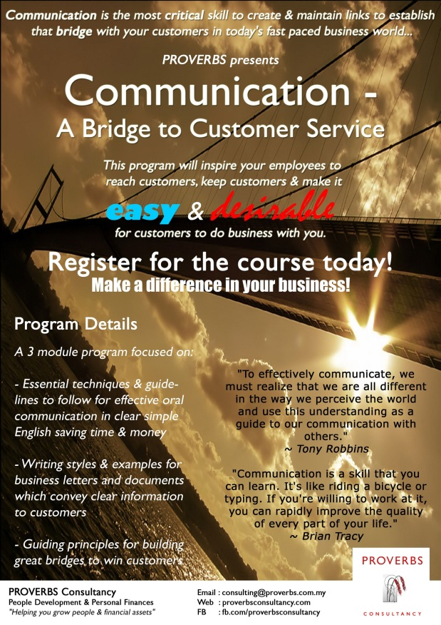 Communication - A Bridge to Customer Service (PROVERBS)